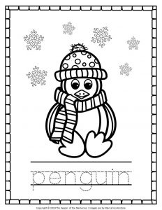 Free Printable Penguin Coloring Pages Penguin Tracing