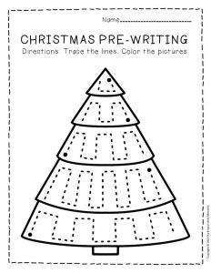 Free Printable Pre-Writing Christmas Preschool Worksheets 1