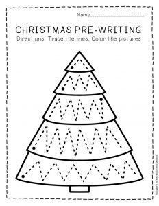 Free Printable Pre-Writing Christmas Preschool Worksheets 2