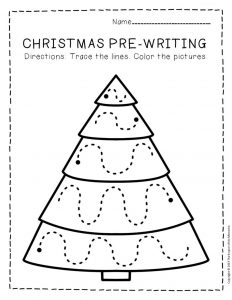 Free Printable Pre-Writing Christmas Preschool Worksheets 3