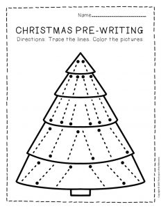 Free Printable Pre-Writing Christmas Preschool Worksheets 5