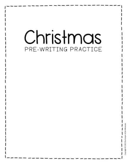 Free Printable Pre-Writing Christmas Preschool Worksheets
