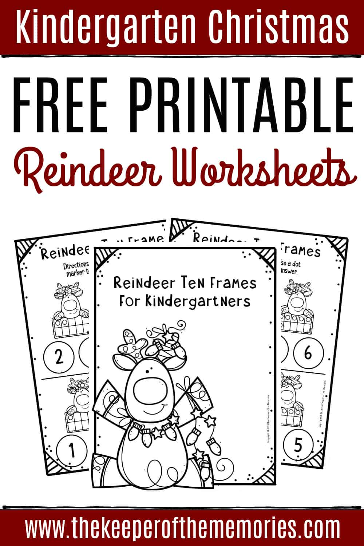 - Free Printable Reindeer Ten Frame Kindergarten Worksheets