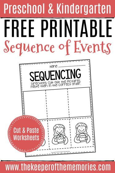Free Printable Sequence of Events Preschool Worksheets
