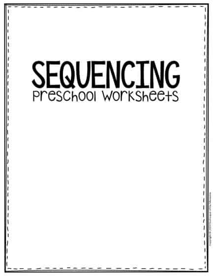 Free Printable Sequencing Preschool Worksheets