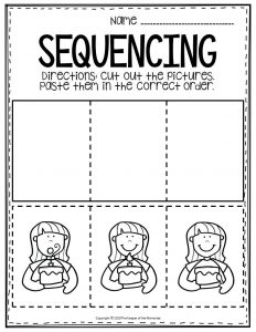 Free Printable Sequencing Preschool Worksheets Birthday Candles