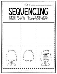 Free Printable Sequencing Preschool Worksheets Monster