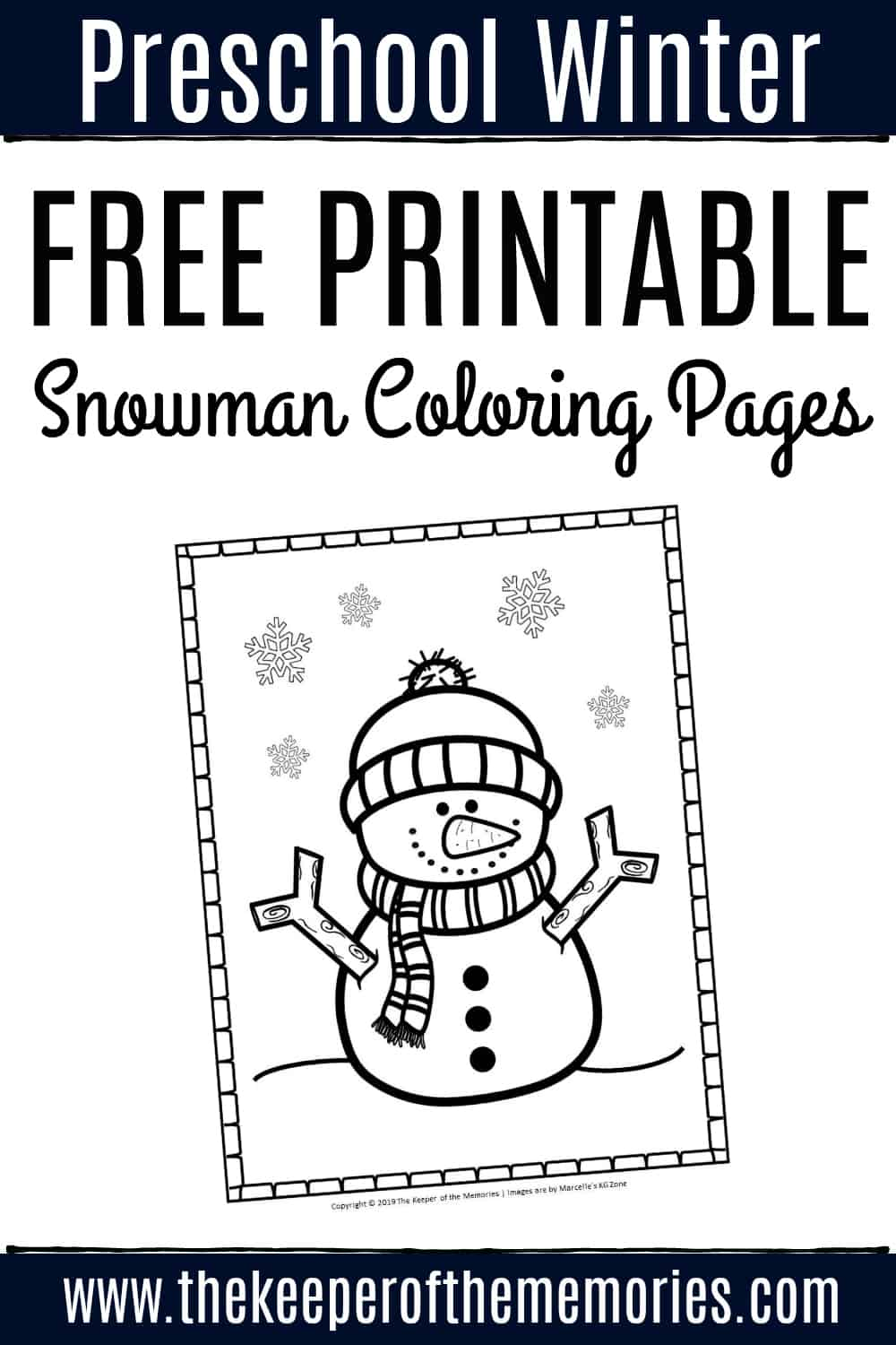 Snowman Coloring Pages - Free and Printable! - Clip Art Library | 1500x1000