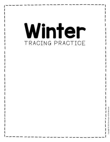 Free Printable Winter Tracing Preschool Worksheets