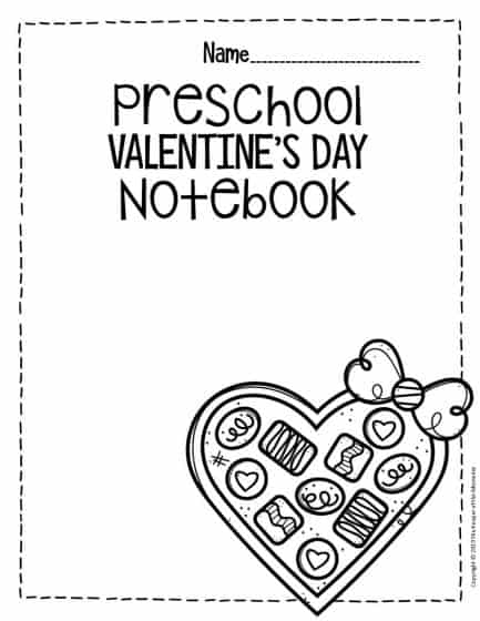 Preschool Valentine's Day Counting Notebook