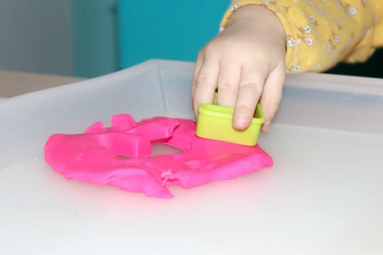 Playdough Prints Toddler Sensory Tray 4