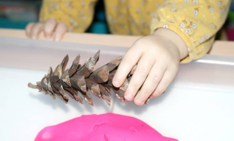 Playdough Prints Toddler Sensory Tray 5