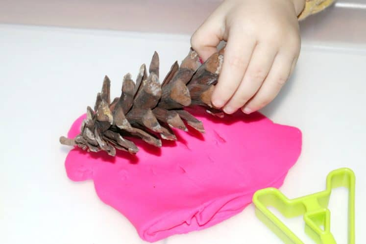 Playdough Prints Toddler Sensory Tray 6