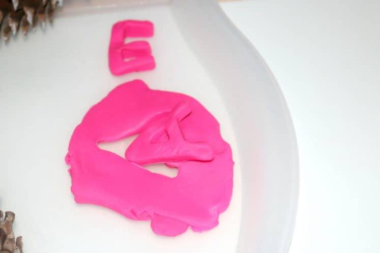 Playdough Prints Toddler Sensory Tray 7