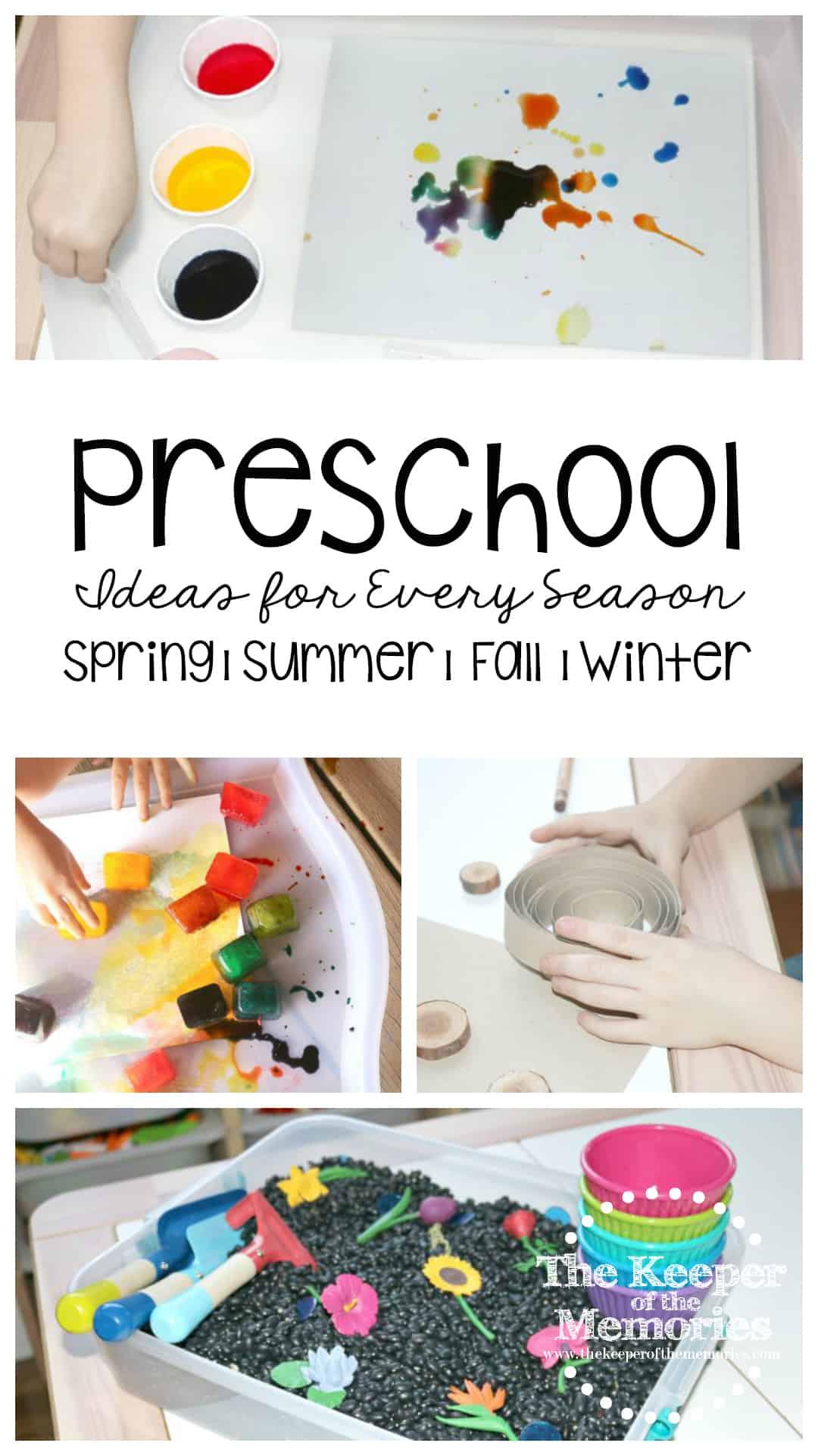 Seasons Preschool Monthly Theme Crafts & Activities