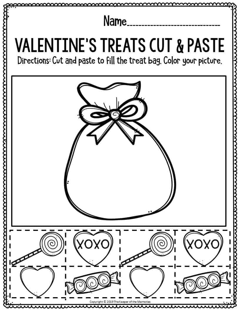 Valentine Worksheets For Kindergarten