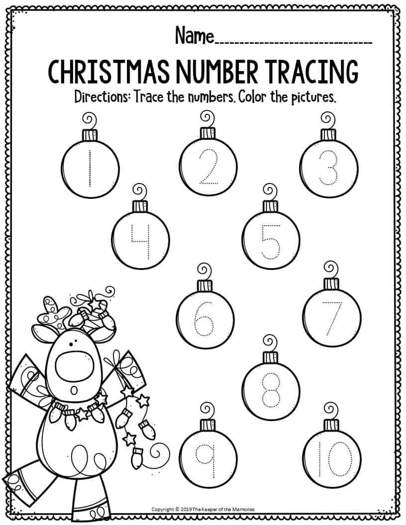 Printable Math Christmas Preschool Worksheets Christmas ...