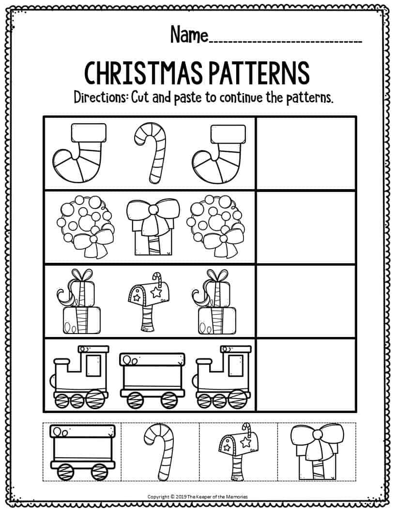Christmas Activity Worksheets For Kindergarten