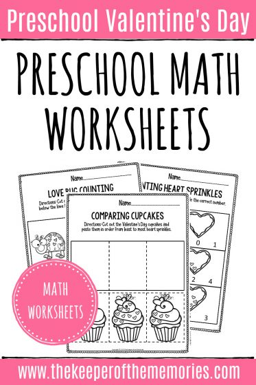 Printable Valentine's Day Math Worksheets
