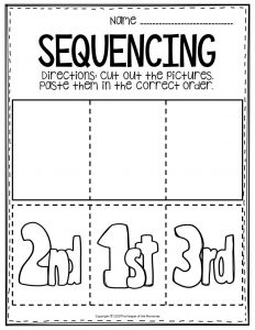 Sequencing Preschool Worksheets 1st, 2nd, 3rd