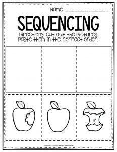 Sequencing Preschool Worksheets Apple