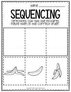 Sequencing Preschool Worksheets Banana