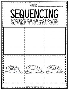Sequencing Preschool Worksheets Birds