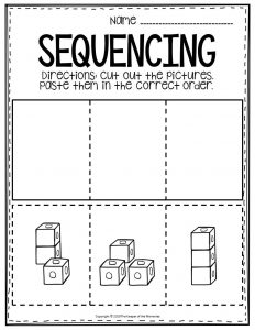 Sequencing Preschool Worksheets Blocks