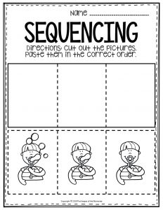 Sequencing Preschool Worksheets Blowing Bubbles