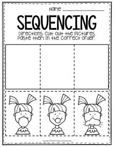 Sequencing Preschool Worksheets Bubble Gum