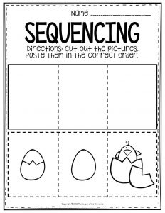 Sequencing Preschool Worksheets Egg Hatching