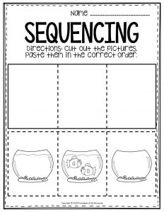 Sequencing Preschool Worksheets Fish Bowl