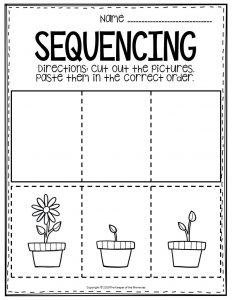 Sequencing Preschool Worksheets Flower