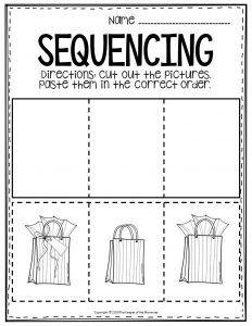 Sequencing Preschool Worksheets Glft Bags