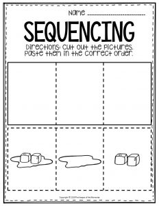 Sequencing Preschool Worksheets Ice Melting