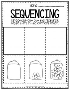 Sequencing Preschool Worksheets Jelly Beans