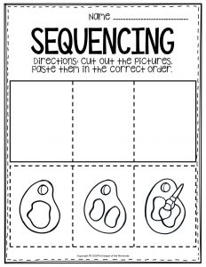 Sequencing Preschool Worksheets Mixing Colors