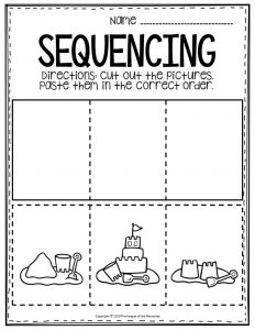 Sequencing Preschool Worksheets Sandcastle