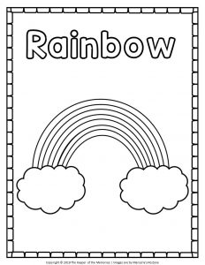 Simple Rainbow Coloring Pages