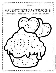Tracing Valentine's Day Preschool Worksheets 2