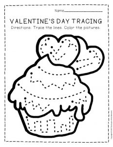 Tracing Valentine's Day Preschool Worksheets 4