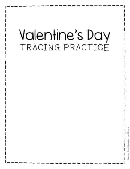 Tracing Valentine's Day Preschool Worksheets