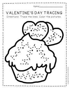 Tracing Valentine's Day Preschool Worksheets 5