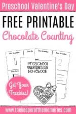 Free Printable Numbers Valentine's Day Preschool Worksheets