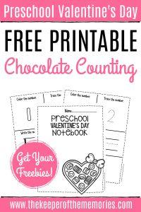 Free Printable Numbers Valentine's Day Preschool Worksheets