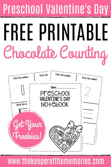 Valentines Day Preschool Counting Notebook