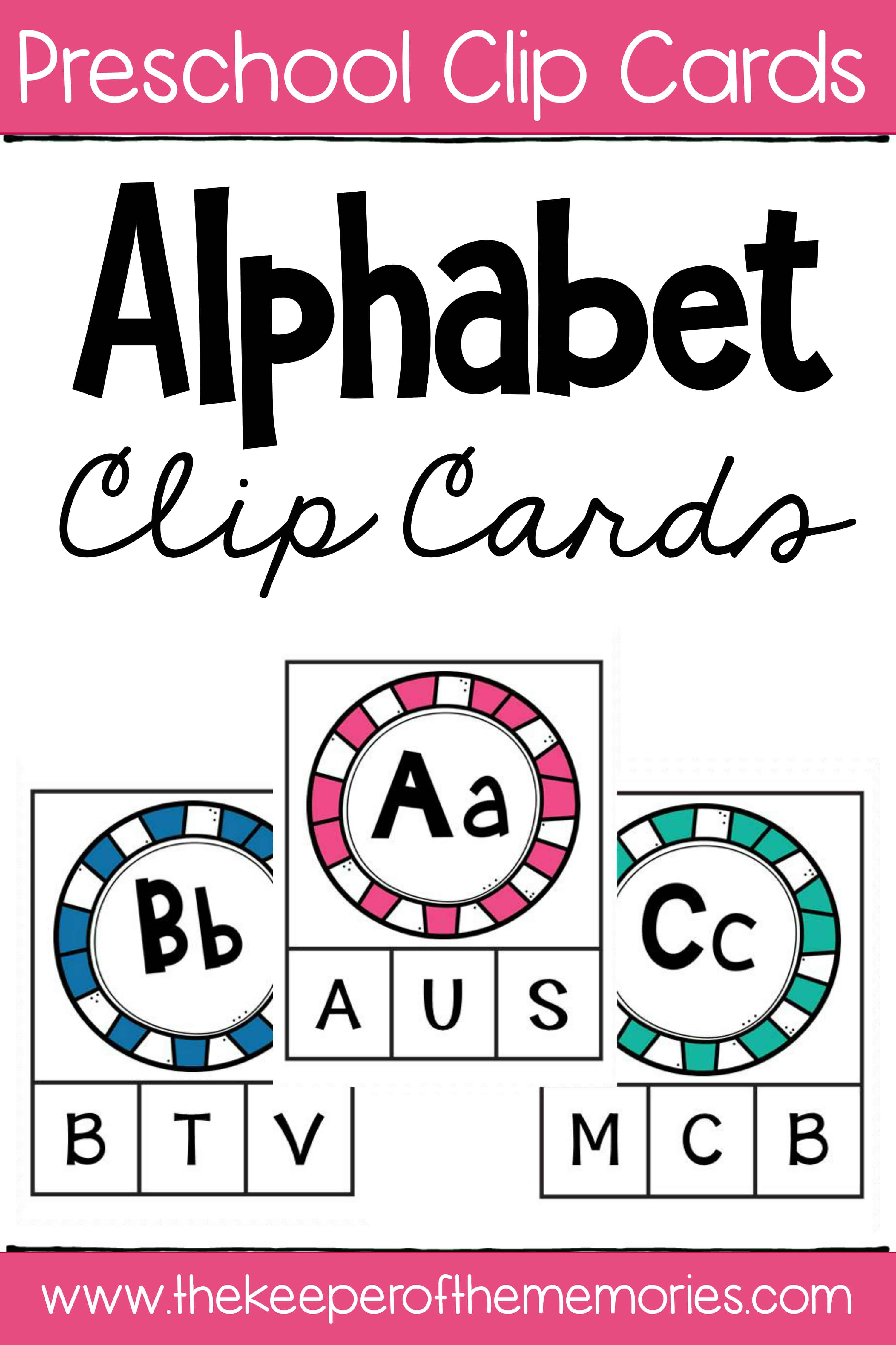 Capital Letter Alphabet Clip Cards