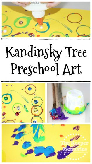 Kandinsky Tree Preschool Art