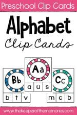Lowercase Letter Alphabet Clip Cards