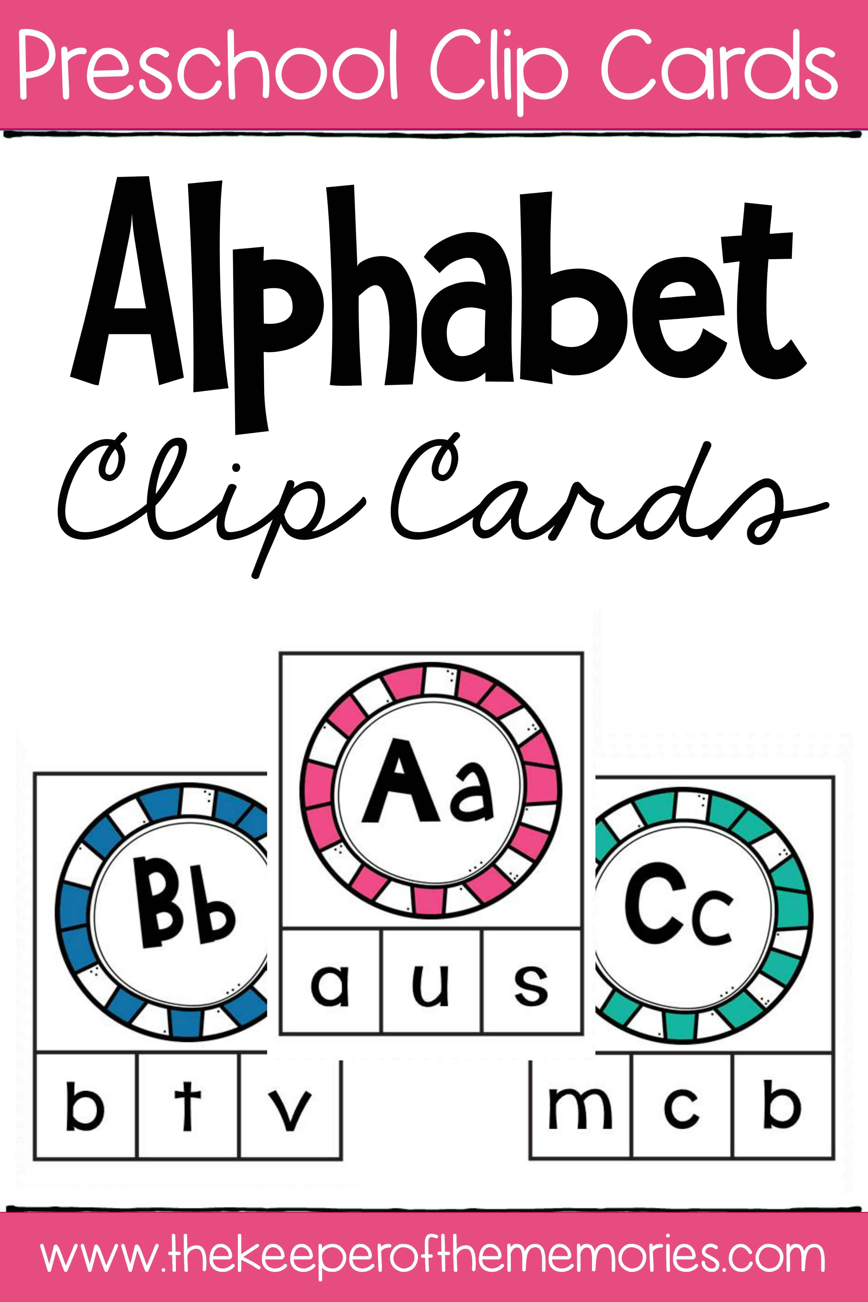 Lowercase Letter Alphabet Clip Cards